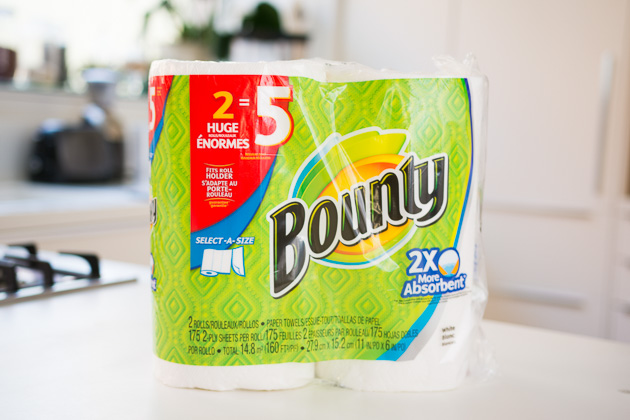 Bounty Was The Best Paper Towel For Scrubbing Wet Surfaces